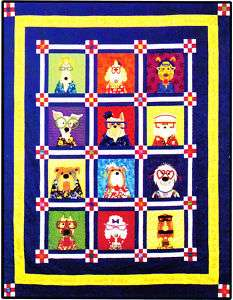 Dazzling Dogs   Amy Bradley BOM applique pattern