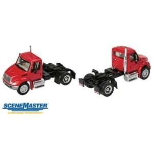 International 4300 Truck   Assembled    Single Axle Semi Tractor (red