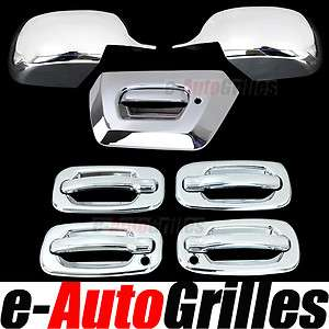 02 06 Chevy Avalanche Chrome Mirror+Tailgate+4 Door Handle w/PSG