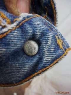 Vtg. Levis 501 Red Line Button Fly Denim Jeans 35 X 33.Dark.*