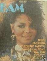 JANET JACKSON   BAM Magazine, Oct. 1986