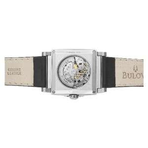 Bulova Mens 96A113 Automatic Mechanical Black Dial Strap Watch