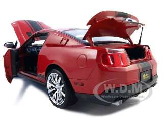 2010 FORD SHELBY MUSTANG GT500 SUPER SNAKE RED 118