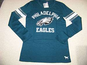 Victorias Secret PINK Philadelphia Eagles Long Sleeve T Shirt NWT