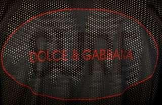 NEW DOLCE & GABBANA MENS BLACK NET LOGO SHIRT 54/2XL