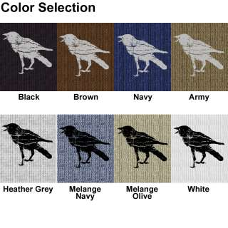Black Crow American Apparel Baby Thermal T Shirt T407