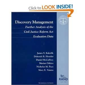 Discovery Management Further Analysis of the Civil