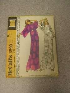 Vintage 1973 McCalls Pattern Misses Caftan Or Top And Pants Size 14