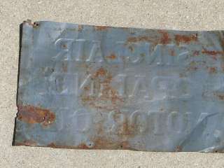 Old Sinclair Opaline Motor Oil Thin Tin Car Gas Service Station Sign
