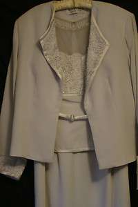 NEW Mother of the Bride Special Occasion Dress Montage 17943 Ice Gray