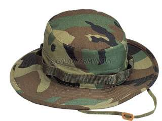 Woodland Camouflage Bush Hunting Military Army Camo Boonie Hat