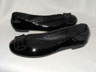 New Taryn Taryn Rose Black Patent Leather Ballet Flats Shoes US 8