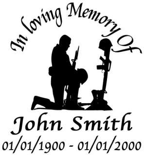In Memory of vinyl decal boat car truck window sticker