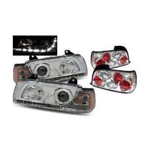 92 98 BMW E36 3 Series 2Dr Chrome LED Halo Projector Headlights 1PC /w