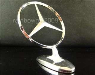 Chrome 3D MERCEDES BENZ Car Hood Ornament Emblem
