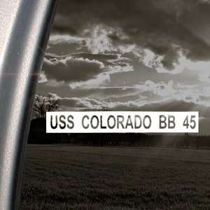 USS COLORADO BB 45 US Navy Battleship Decal Sticker Automotive