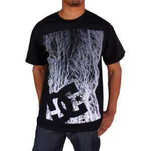 DC Mens Black Forest Tee Shirt, Large