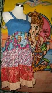 Patchwork Cotton Voile Dress Skirt Small Fair Trade Hippy Boho