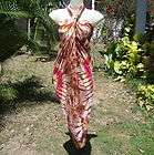 NEW WOMENS LADIE RAYON DRESS TIE DYE Hot Pink 33