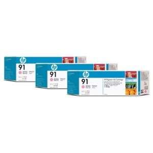 HEWLETT PACKARD  HP 91 Light Magenta 3 Ink Multi Pack