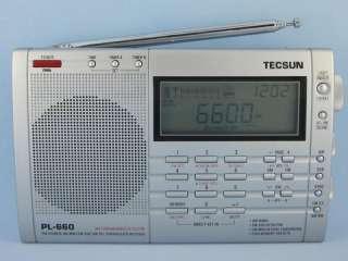 TECSUN PL660 Silver FM/SW/MW/LW/AIR SSB PLL World Radio