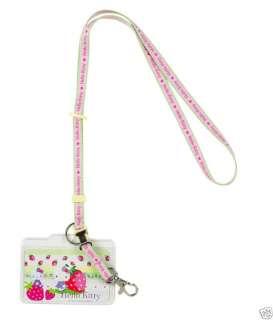 Sanrio   Hello Kitty Strawberry Key Leash with Name Tag