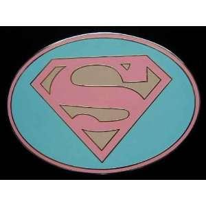 Officially Licensed Dc Comic Super Girl Logo Pink Belt