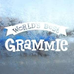Worlds Best Grammie White Decal Car Window Laptop White