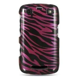 Blackberry Apollo 9360 Hard Case Plum +Black Zebra Cover