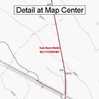 Topographic Quadrangle Map   Van Horn Wells, Texas (Folded/Waterproof