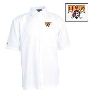 Pittsburgh Pirates Premiere Shirt by Antigua   White Extra Large