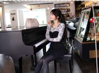 yrfashion Korean Fashion Women 2011 Elegant Wool Lace Embroidery One