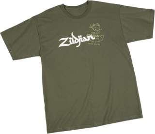 Zildjian Cymbals Military Green Tee T Shirt   All Sizes