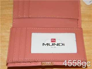 DESIGNER MUNDI FRENCH PURSE TRIFOLD LEATHER WALLET NEW
