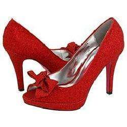Promiscuous Sugary Red Sparkle Pumps/Heels