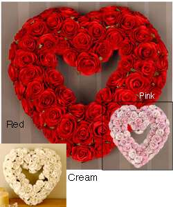 Red Rose Heart shaped Wreath