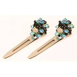 Ardent Designs Twists of Swarovski Crystal Hair Clips (Set of 2