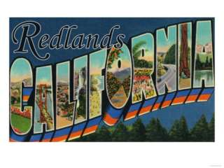 Redlands, California   Large Letter Scenes Prints at AllPosters