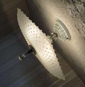 VINTAGE 30s ART DECO Glass Ceiling Light Fixture CHANDELIER