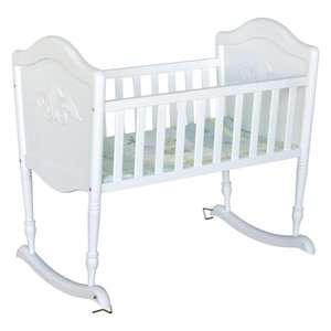 DaVinci Chloe Rocking Cradle in White: Furniture