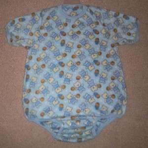 Adult Baby 47 TEDDY BEARS & BASKETBALLS Fleece ONESIE, by LL