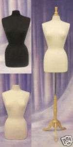 Mannequin Manikin Dress Form F6/8W+BS 01+ 1 Black Cover