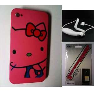 Hot Pink Kitty Designer Snap Slim Back Cover Case+ Screen