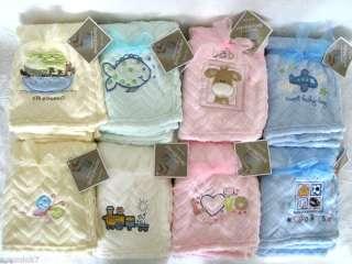 Baby Boys Girls Blanket Plush Textured Very Soft 30x40