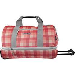 Plaid 22 inch Expandable Carry On Rolling Duffel Bag