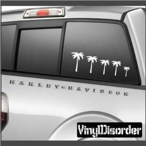 Family Decal Set Palm Trees 01 Stick People Car or Wall Vinyl Decal