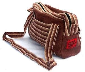 womens Purse Handbag travel bag brown pink shoulder