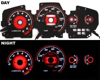 1995 EG Honda Civic EX Si RED RADIANT Glow Gauge BLACK MANUAL
