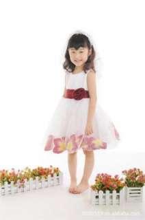Bridesmaid Dinner Dress Wedding Princess Tutu Skirt Petals Size 2 8y