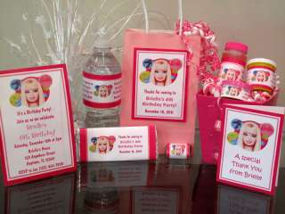 Barbie Birthday Party PDF CD w/ Invitation Favor Water Candy Bubble